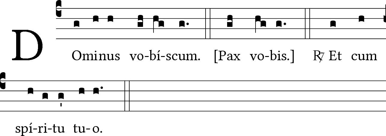 ... Pax vobis...
