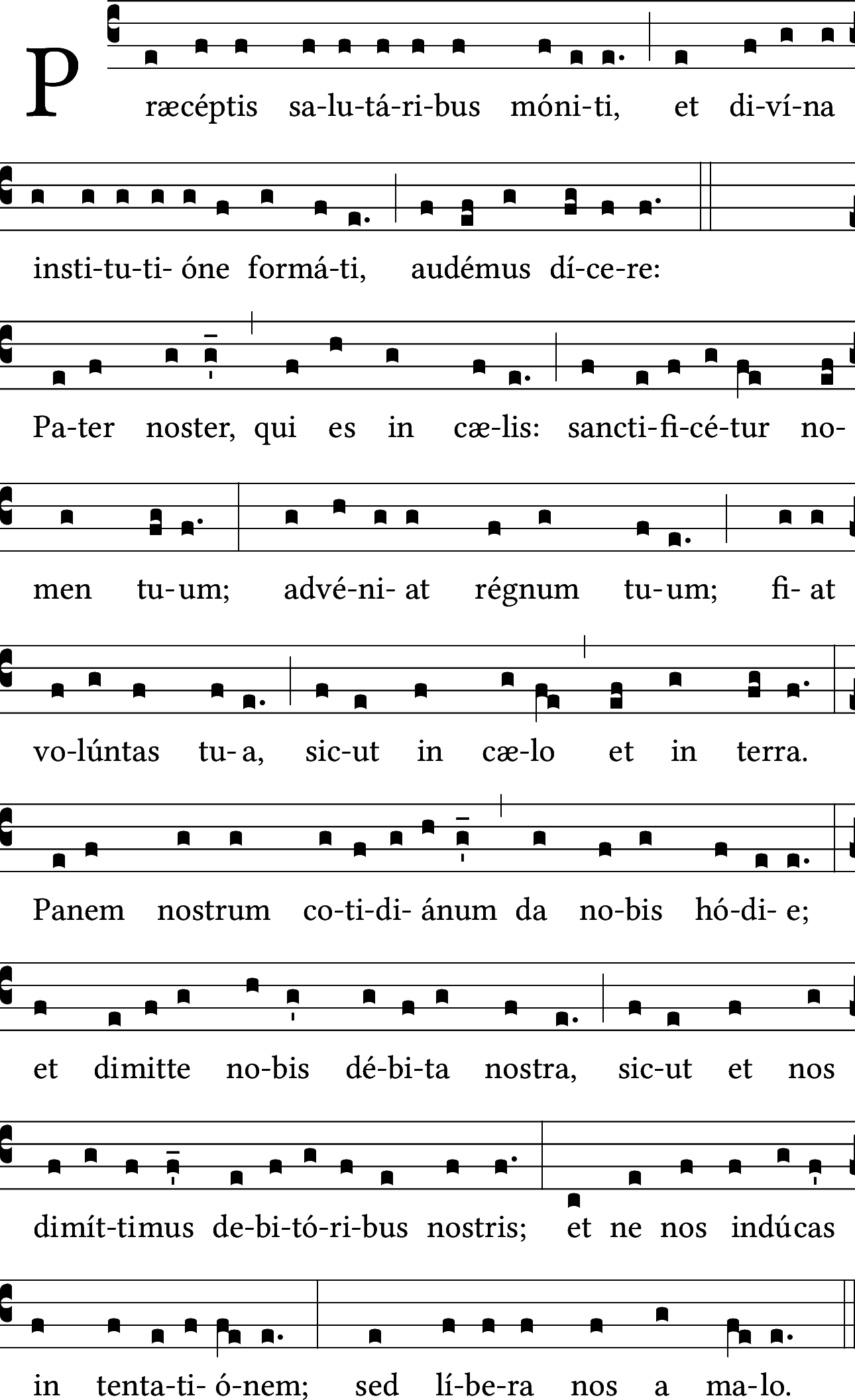 Pater noster...