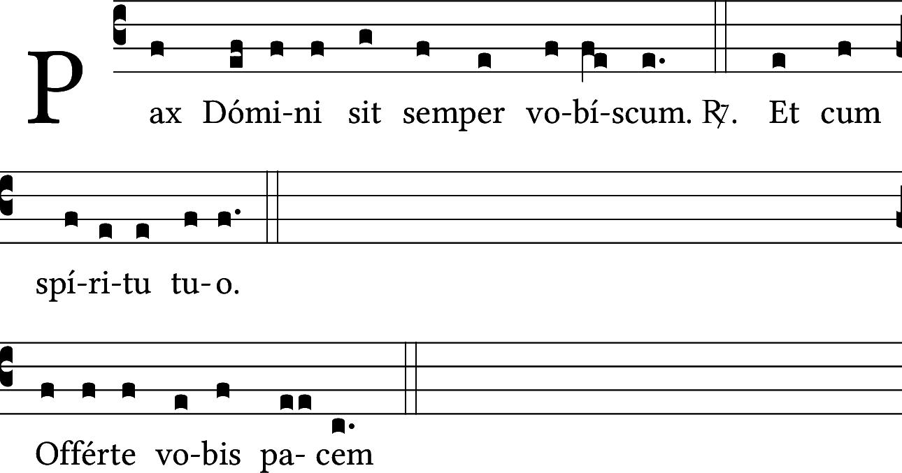 Pax Domini...