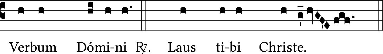 Verbum Domini — Laus tibi Christe