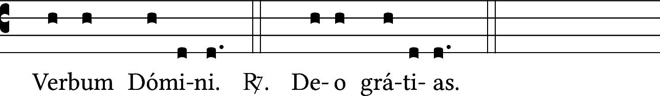 Verbum Domini — Deo gratias